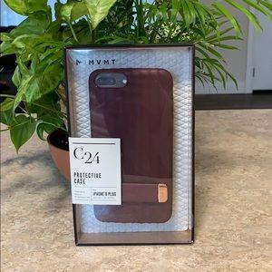 Maroon iPhone 8 Plus case